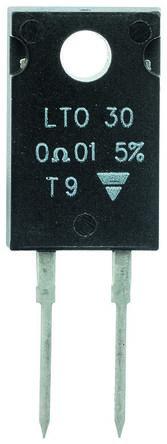 Vishay 470mΩ Thick Film Resistor 30W ±1% LTO030FR4700FTE3