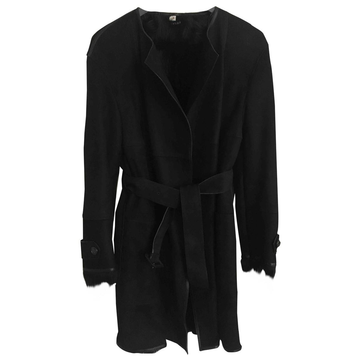 Burberry - Manteau   pour femme en mouton - noir