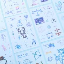 6sheets Constellation Print Random Sticker