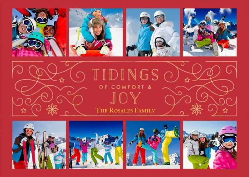 Holiday Photo Cards 5x7 Folded Cards, Standard Cardstock 85lb, Card & Stationery -Comfort & Joy