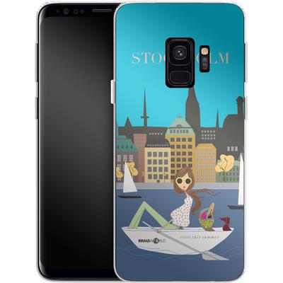 Samsung Galaxy S9 Silikon Handyhuelle - STOCKHOLM TRAVEL POSTER von IRMA