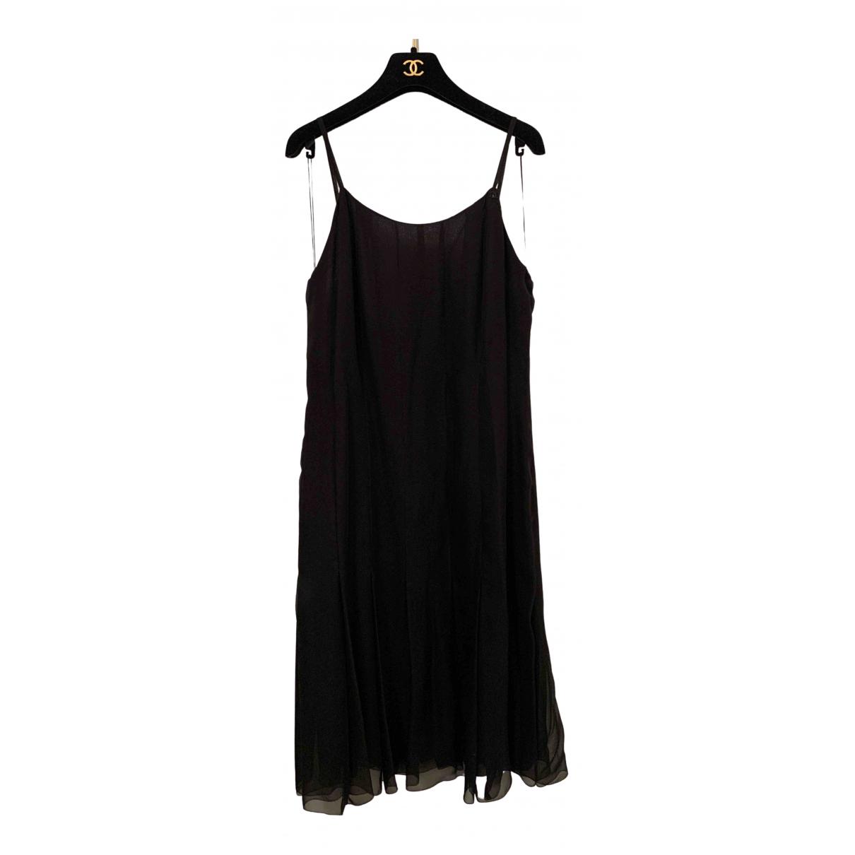 Chanel N Black Silk dress for Women 44 FR