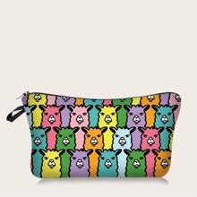 Colorful Alpaca Pattern Makeup Bag
