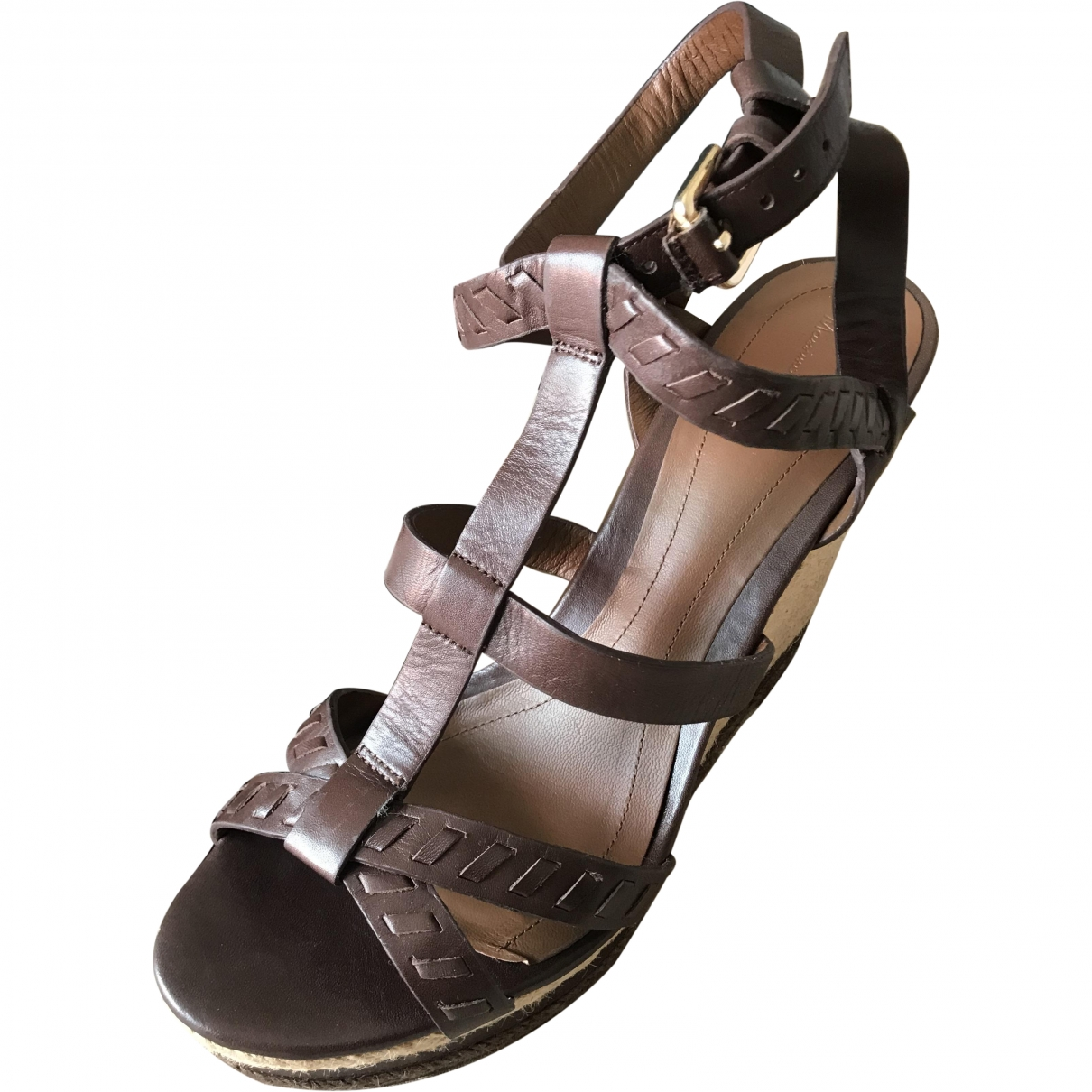 Massimo Dutti \N Brown Leather Sandals for Women 41 EU