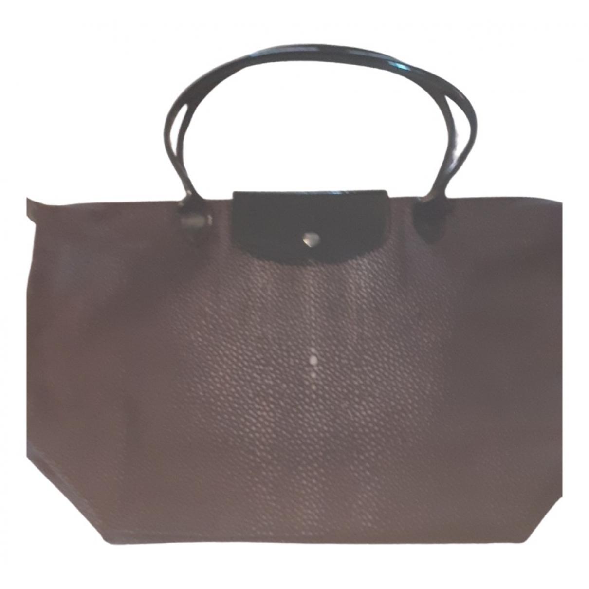 Longchamp - Sac a main Pliage  pour femme - gris