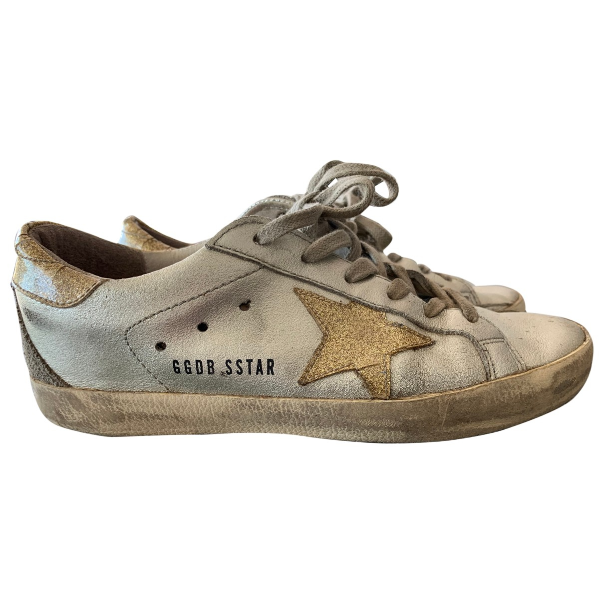 Golden Goose Superstar Silver Leather Trainers for Women 36 EU