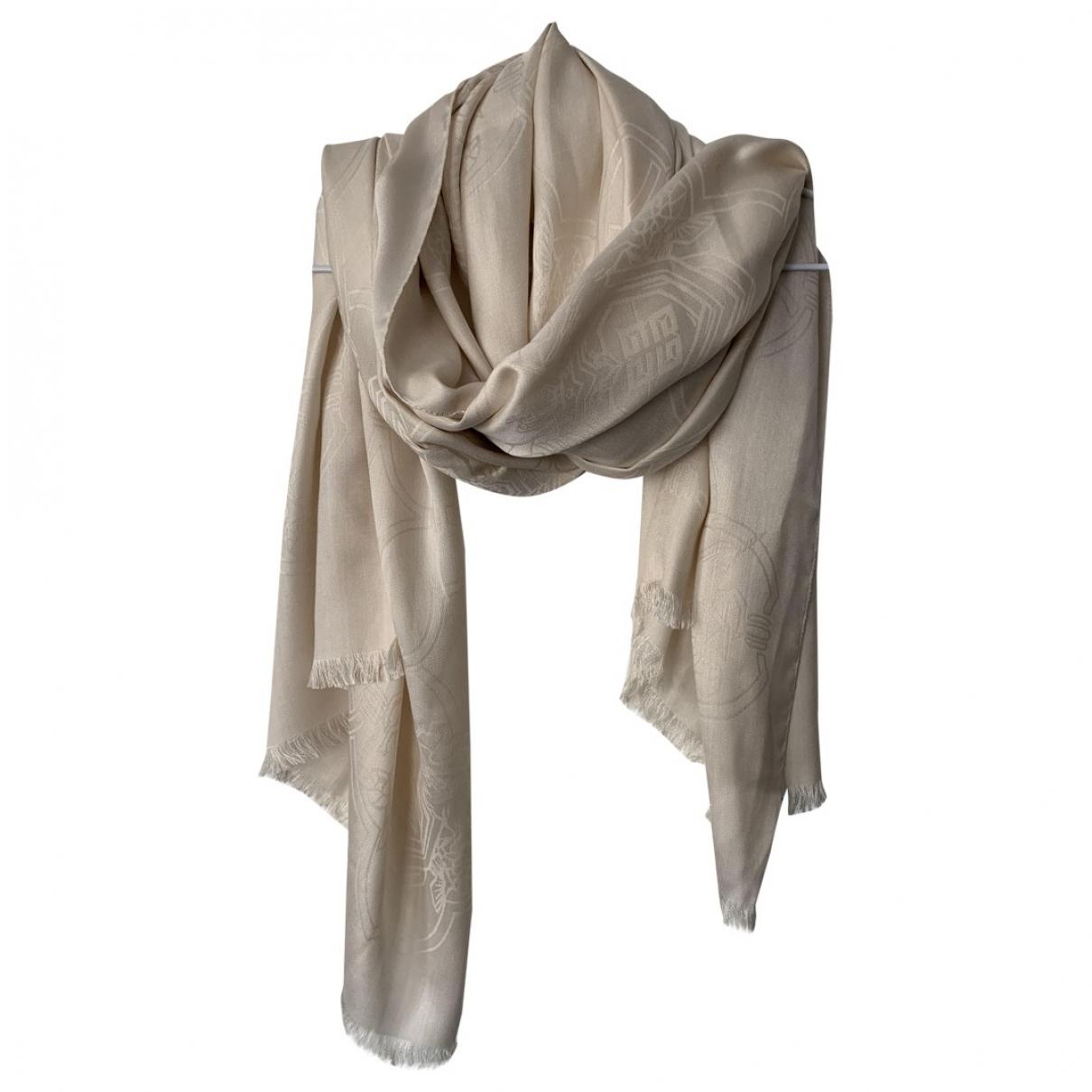Givenchy \N Ecru Silk scarf for Women \N