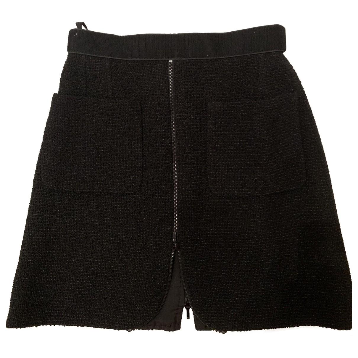 Chanel \N Rocke in  Schwarz Tweed