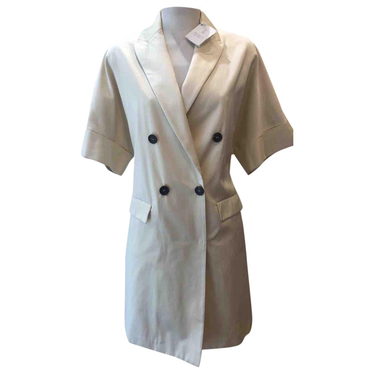 Brunello Cucinelli \N Kleid in  Beige Wolle
