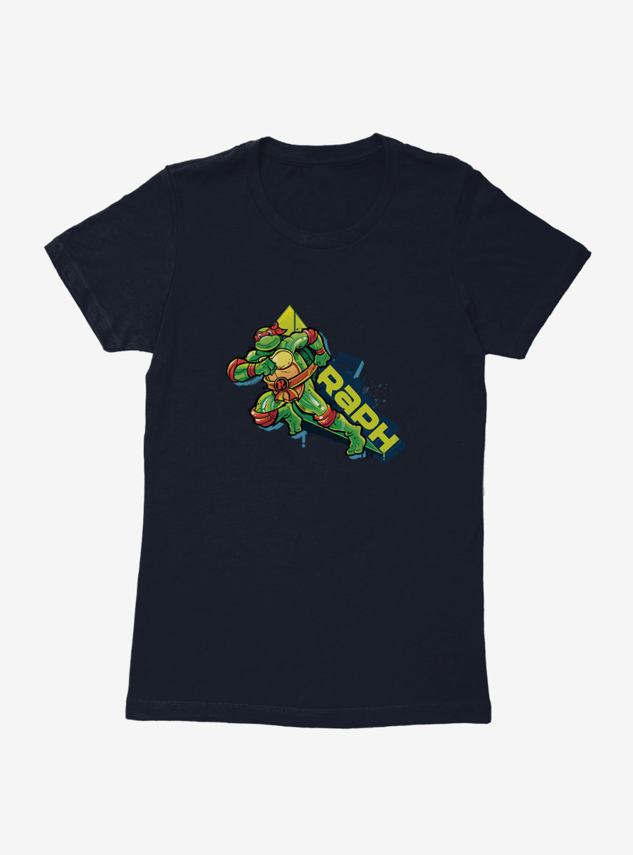 Teenage Mutant Ninja Turtles Raph Action Womens T-Shirt