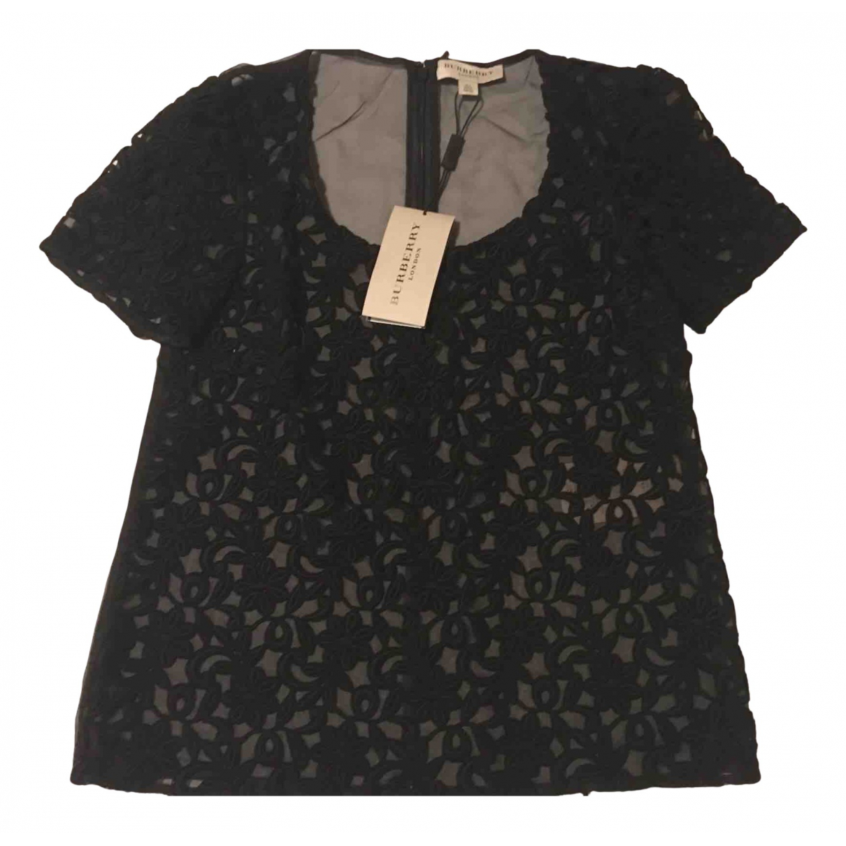 Burberry \N Black Silk  top for Women 4 UK