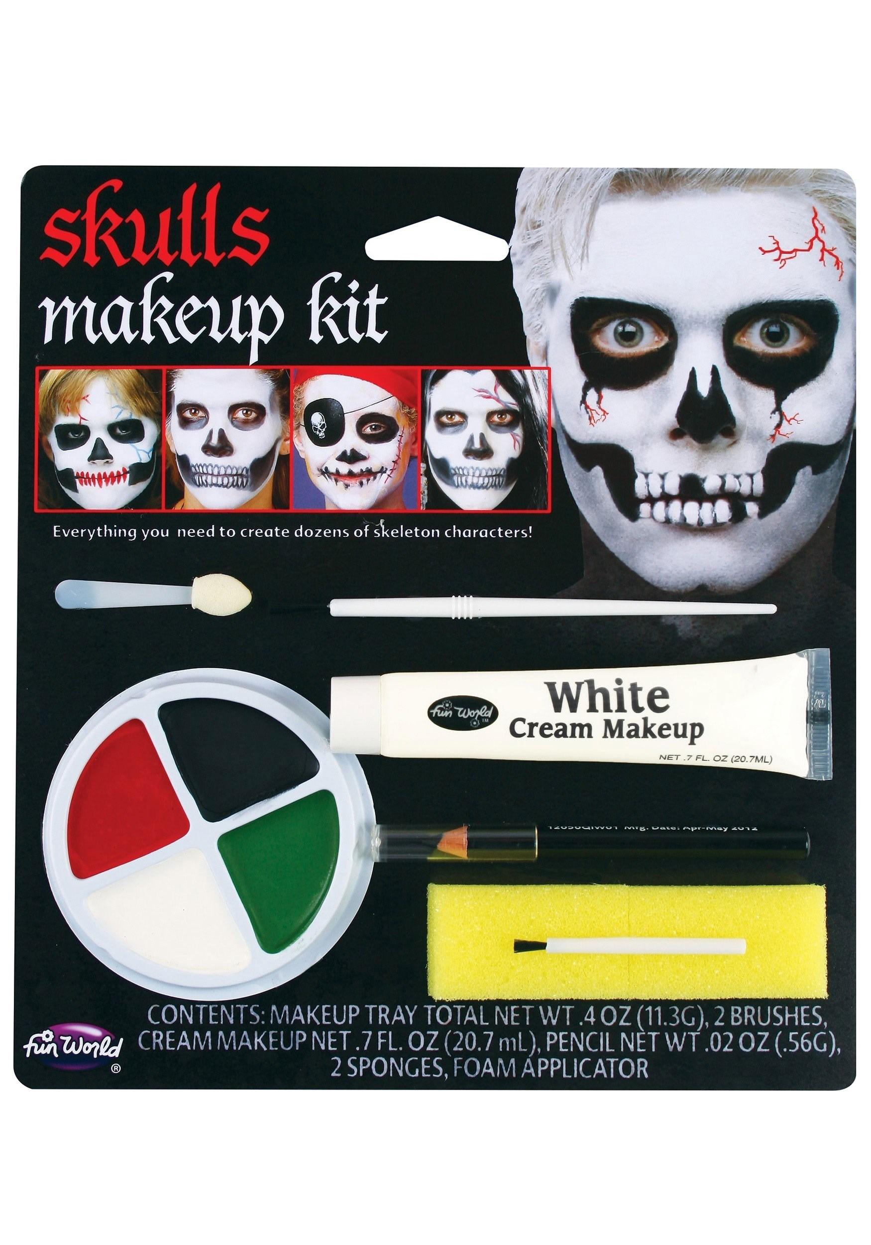 Fun World Child Skull Makeup Kit