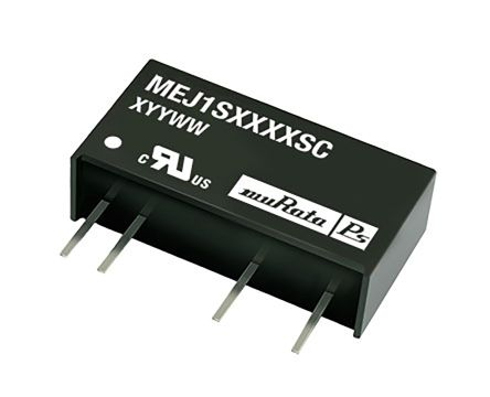 Murata Power Solutions MEJ2 1W Isolated DC-DC Converter Through Hole, Voltage in 21.6 → 26.4 V dc, Voltage out