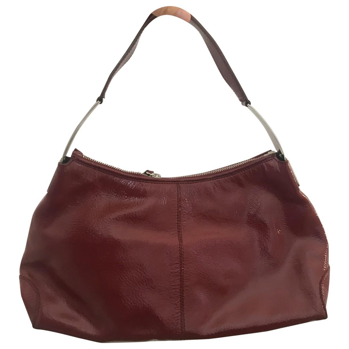 Tod's \N Handtasche in  Rot Lackleder