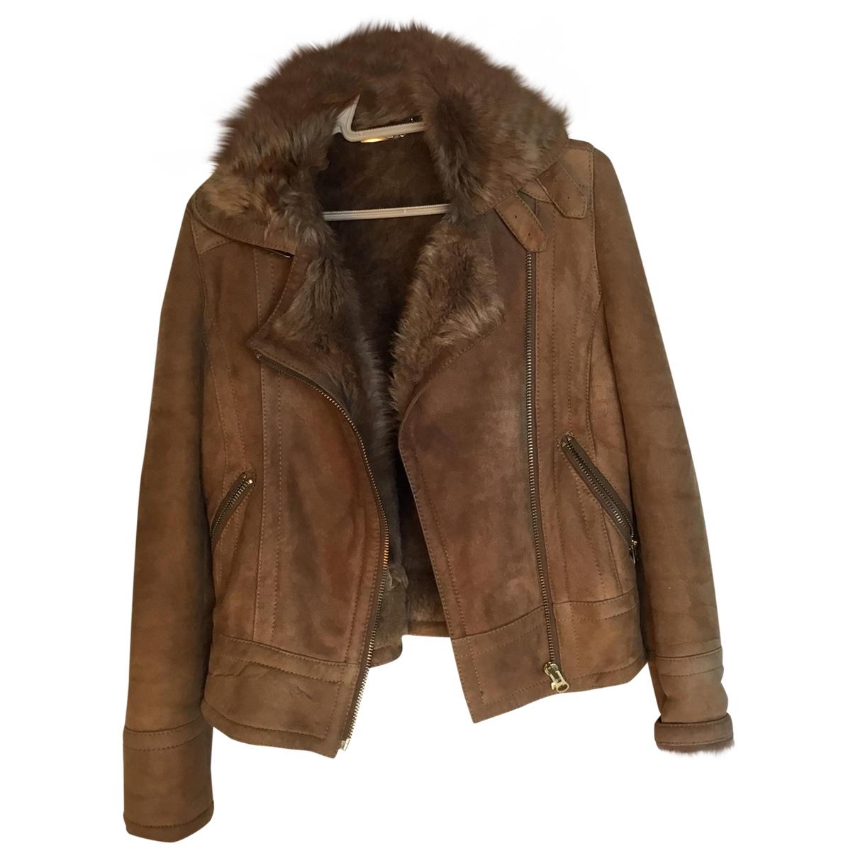 Massimo Dutti \N Camel Suede coat for Women S International