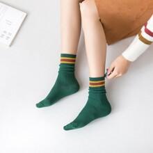 Striped Pattern Slouchy Socks