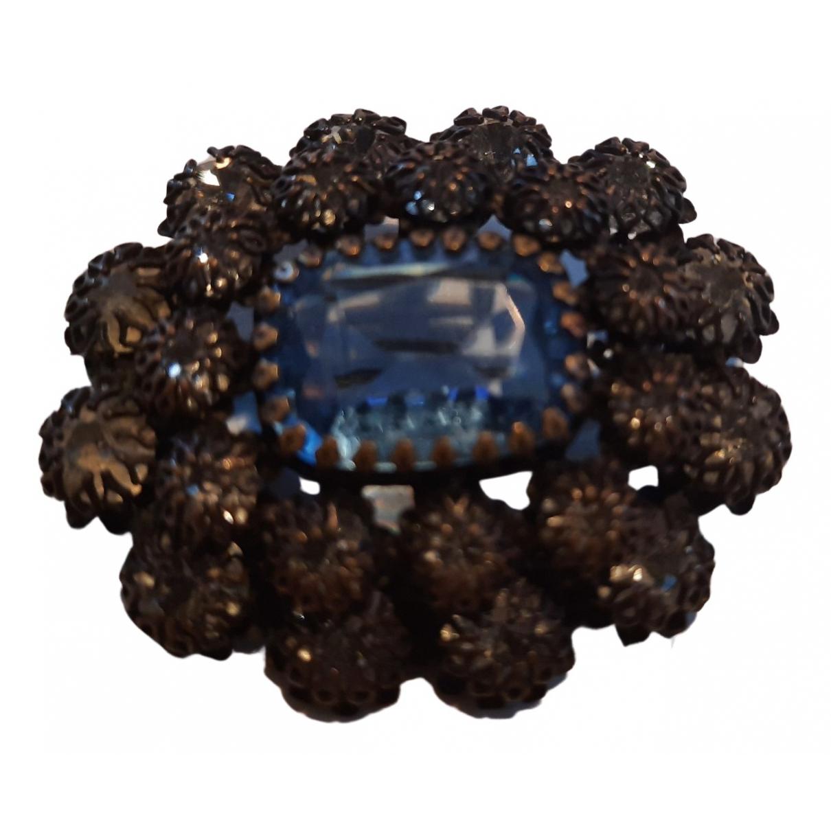 - Broche Art Deco pour femme en metal - bleu
