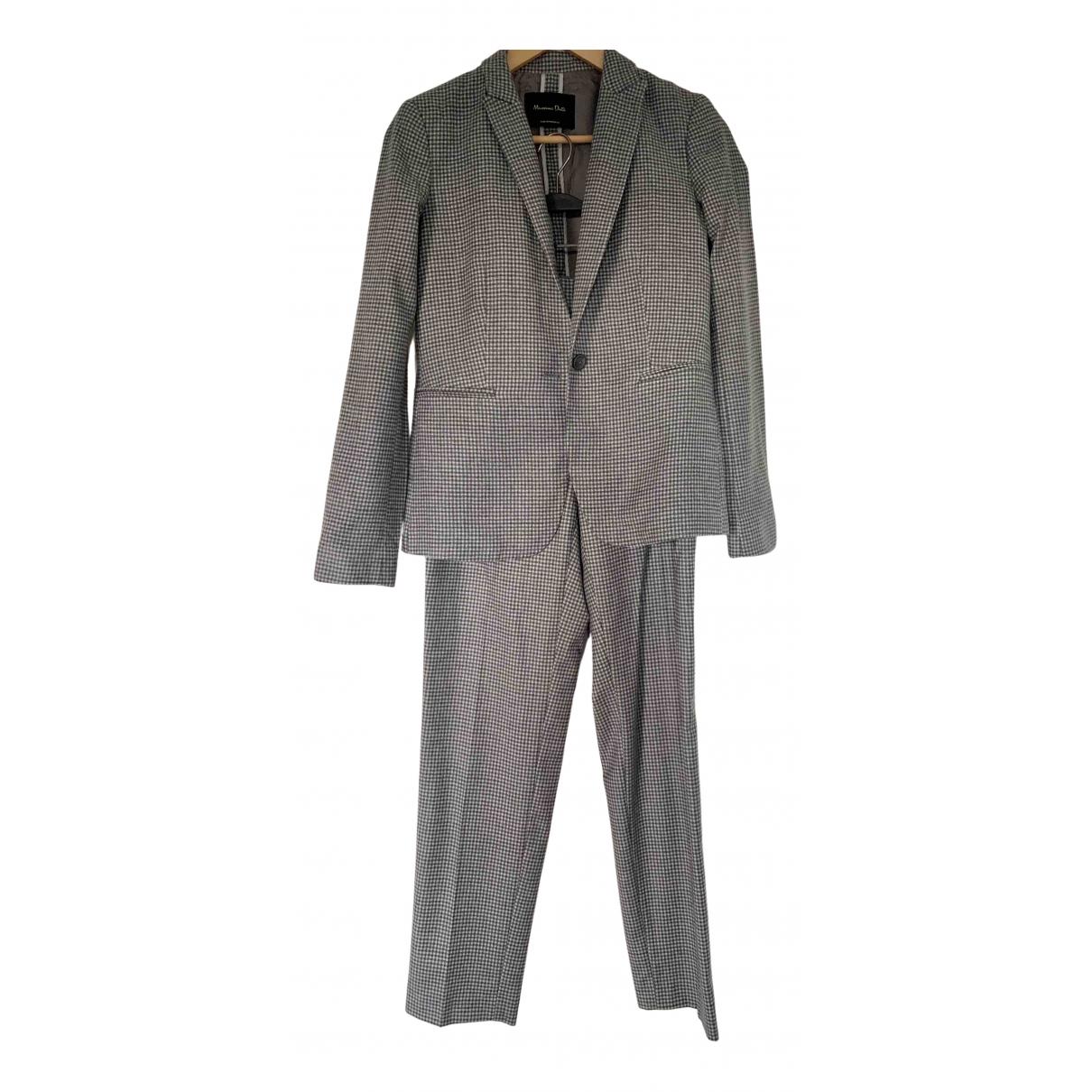 Massimo Dutti - Veste   pour femme en laine - gris