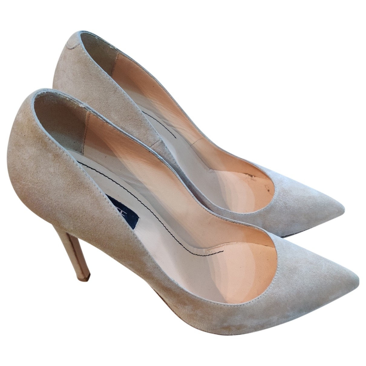 Non Signé / Unsigned \N Beige Suede Heels for Women 40 EU