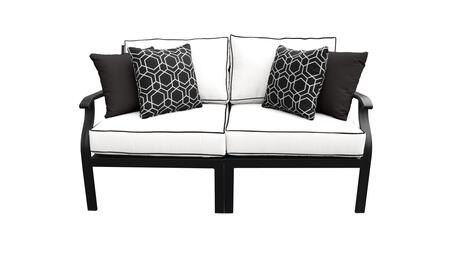 MADISON-02a Kathy Ireland Homes and Gardens Madison Ave. 2 Piece Aluminum Patio Set 02a with 1 Set of Snow