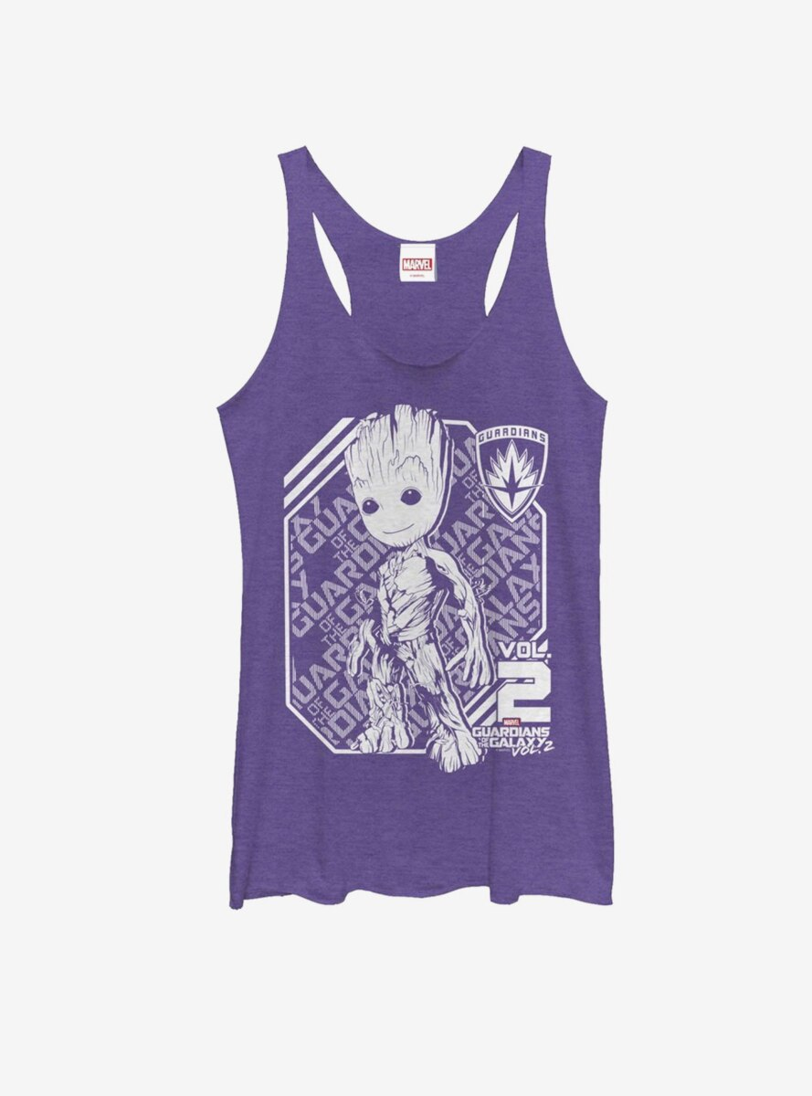 Marvel Guardians of Galaxy Vol. 2 Groot Athletic Womens Tank