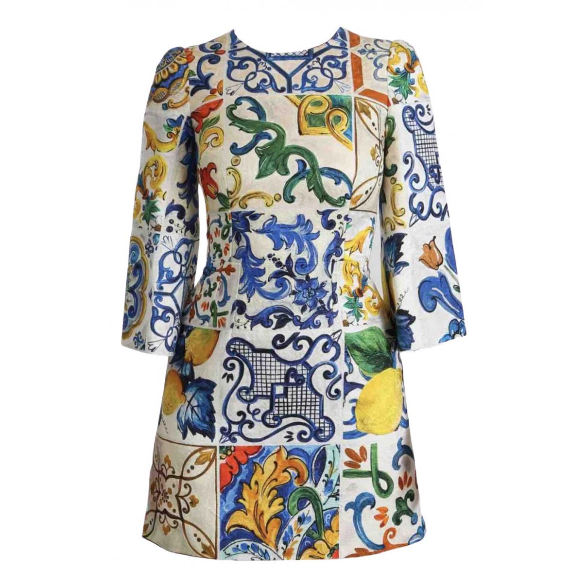 Dolce & Gabbana \N Multicolour Cotton dress for Women 38 IT