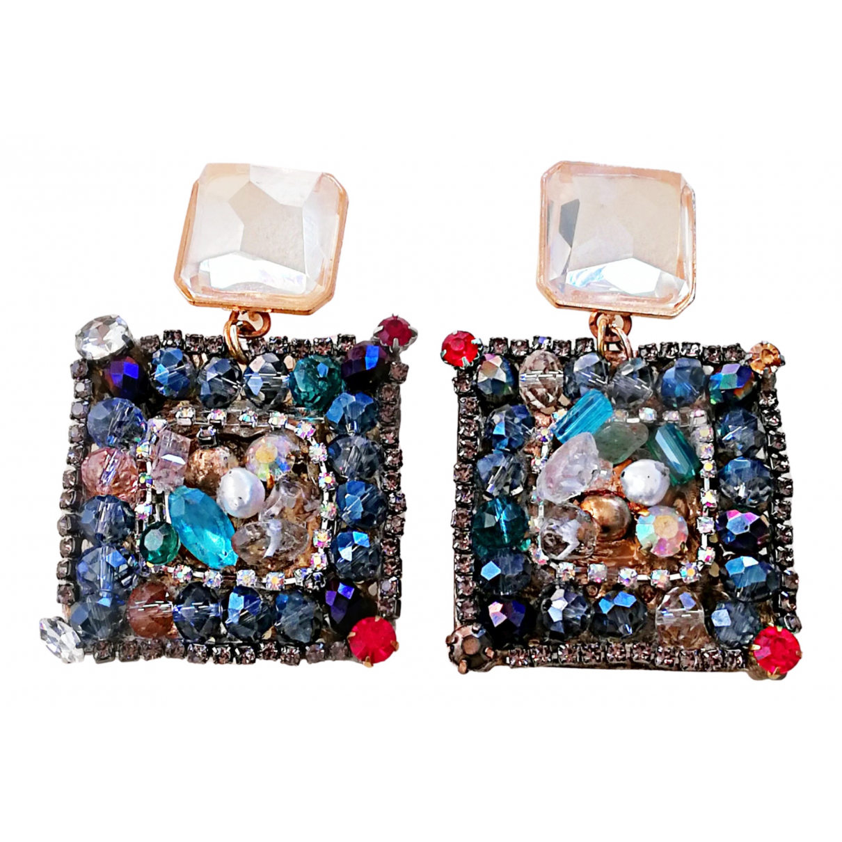 Non Signé / Unsigned N Multicolour Metal Earrings for Women N