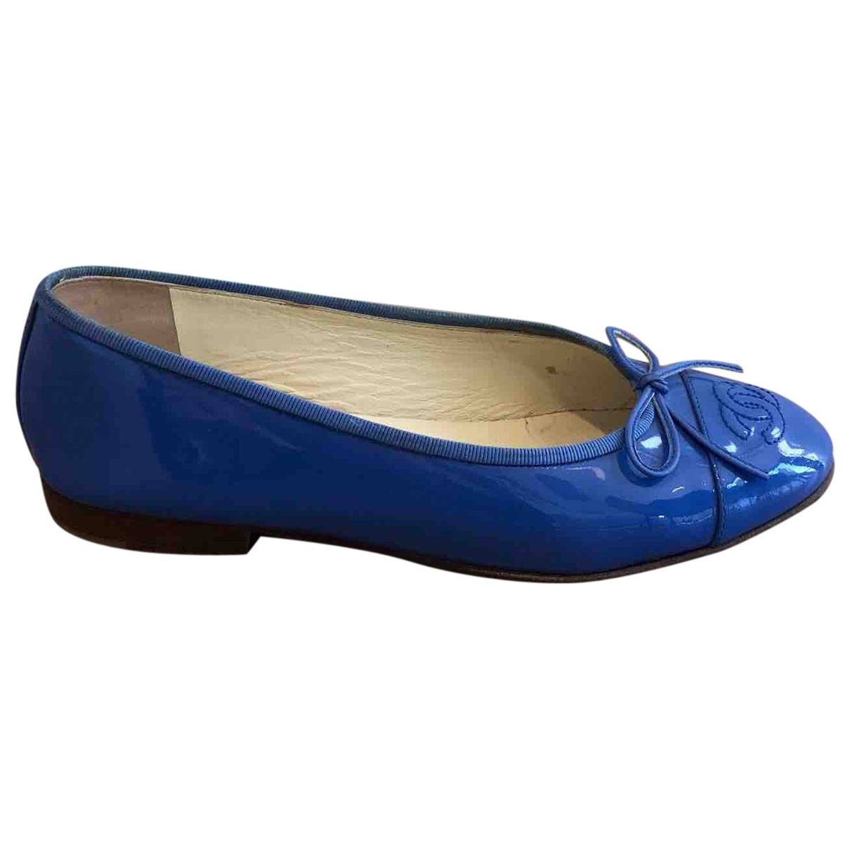Chanel \N Blue Patent leather Ballet flats for Women 37 EU