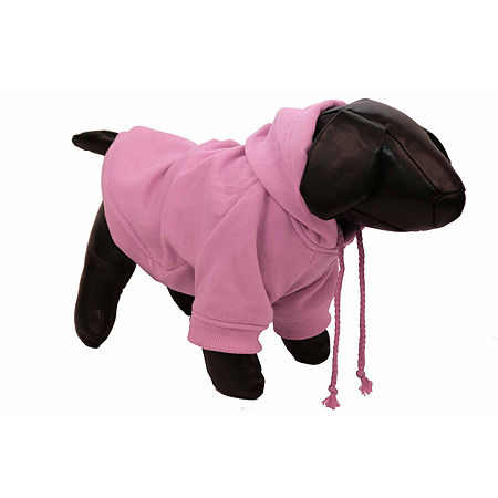 The Pet Life Fashion Plush Cotton Pet Hoodie Hooded Sweater, One Size , Pink