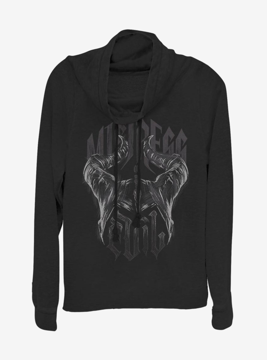 Disney Maleficent: Mistress Of Evil Metal Horns Cowlneck Long-Sleeve Womens Top