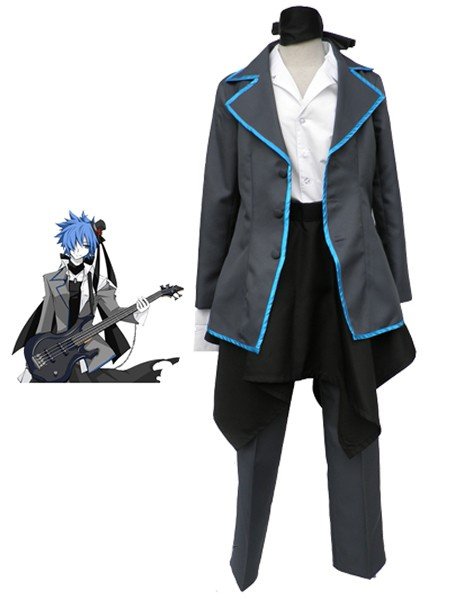 Milanoo VOCALOID Imitation Black Kaito Cosplay Costume Halloween