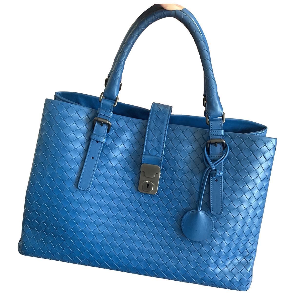 Bottega Veneta - Sac a main Roma pour femme en cuir - bleu