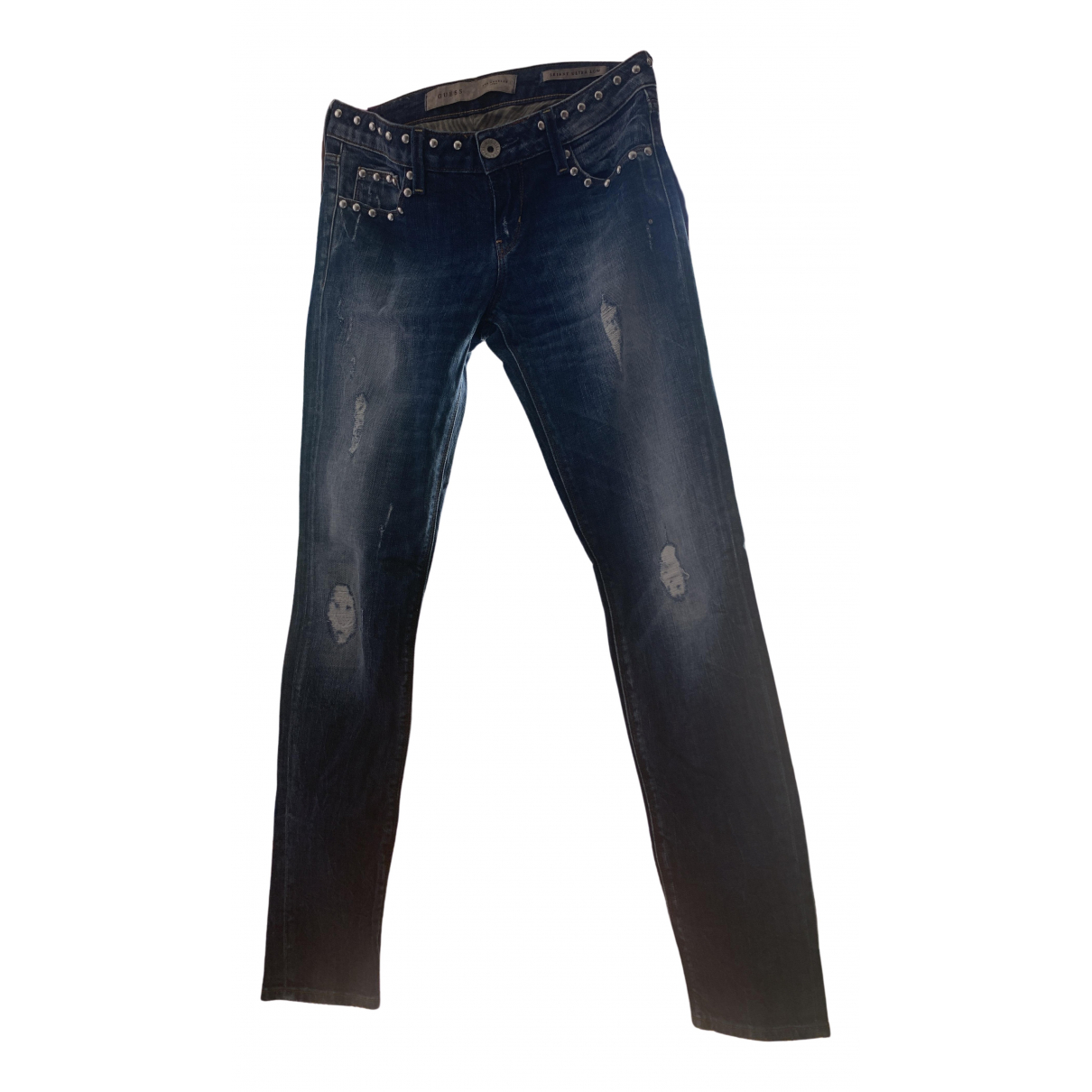 Guess \N Blue Denim - Jeans Jeans for Women 25 US