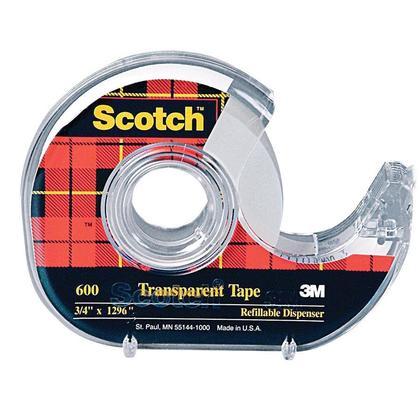 Scotch@ Transparent Adhesive Tape - Multi-sized (Dispenser) 229377