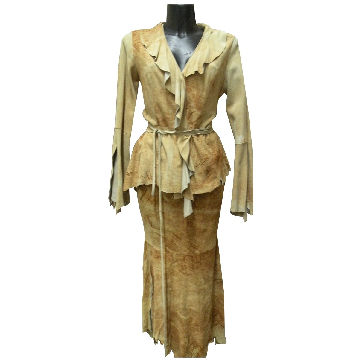 Non Signé / Unsigned \N Brown Suede jacket for Women 44 IT