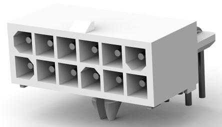 TE Connectivity , Mini-Universal MATE-N-LOK, 12 Way, Right Angle PCB Header (5)