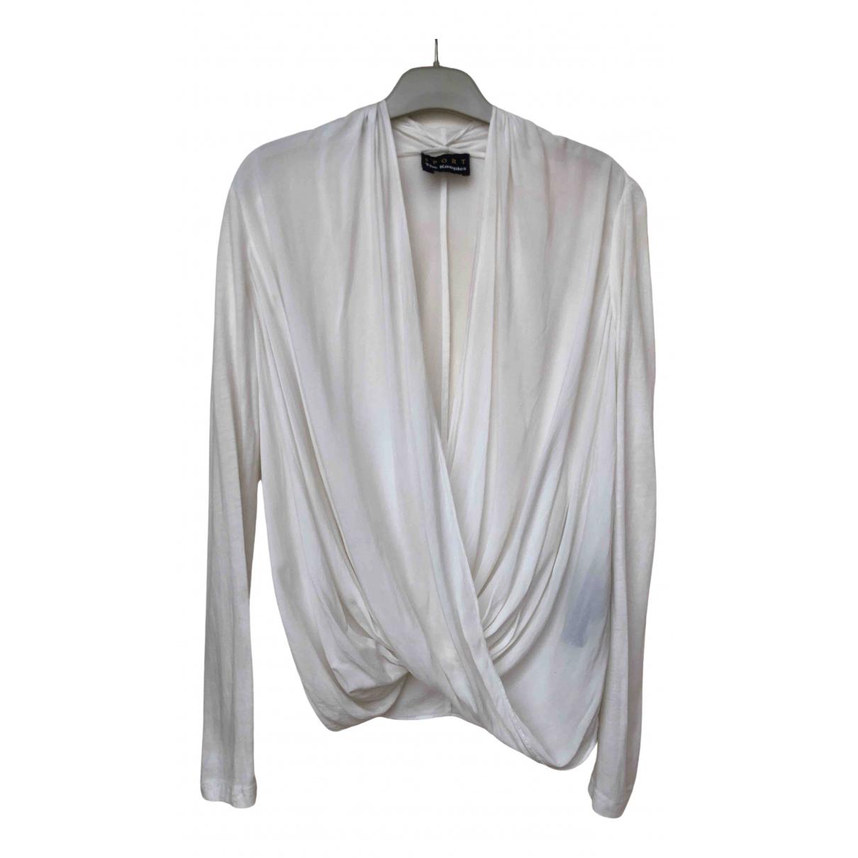 The Kooples - Top   pour femme en coton - blanc