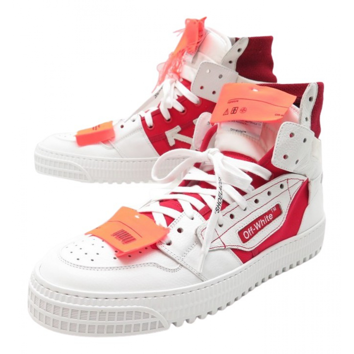 Off-white \N White Leather Trainers for Kids 38 FR