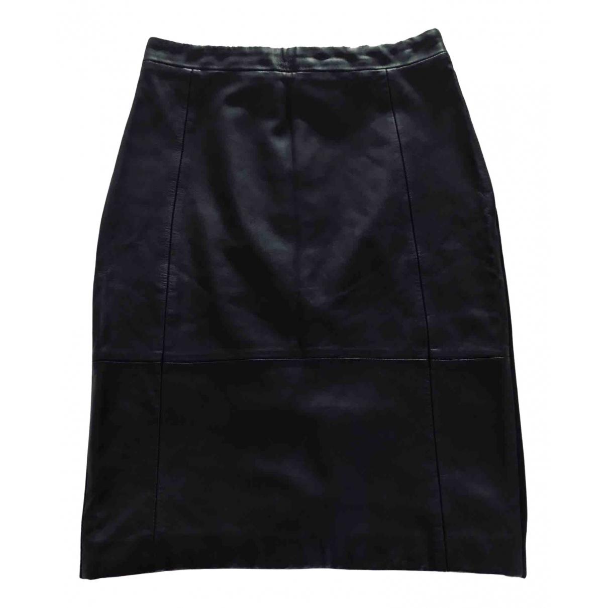 Reiss \N Black Leather skirt for Women 10 UK