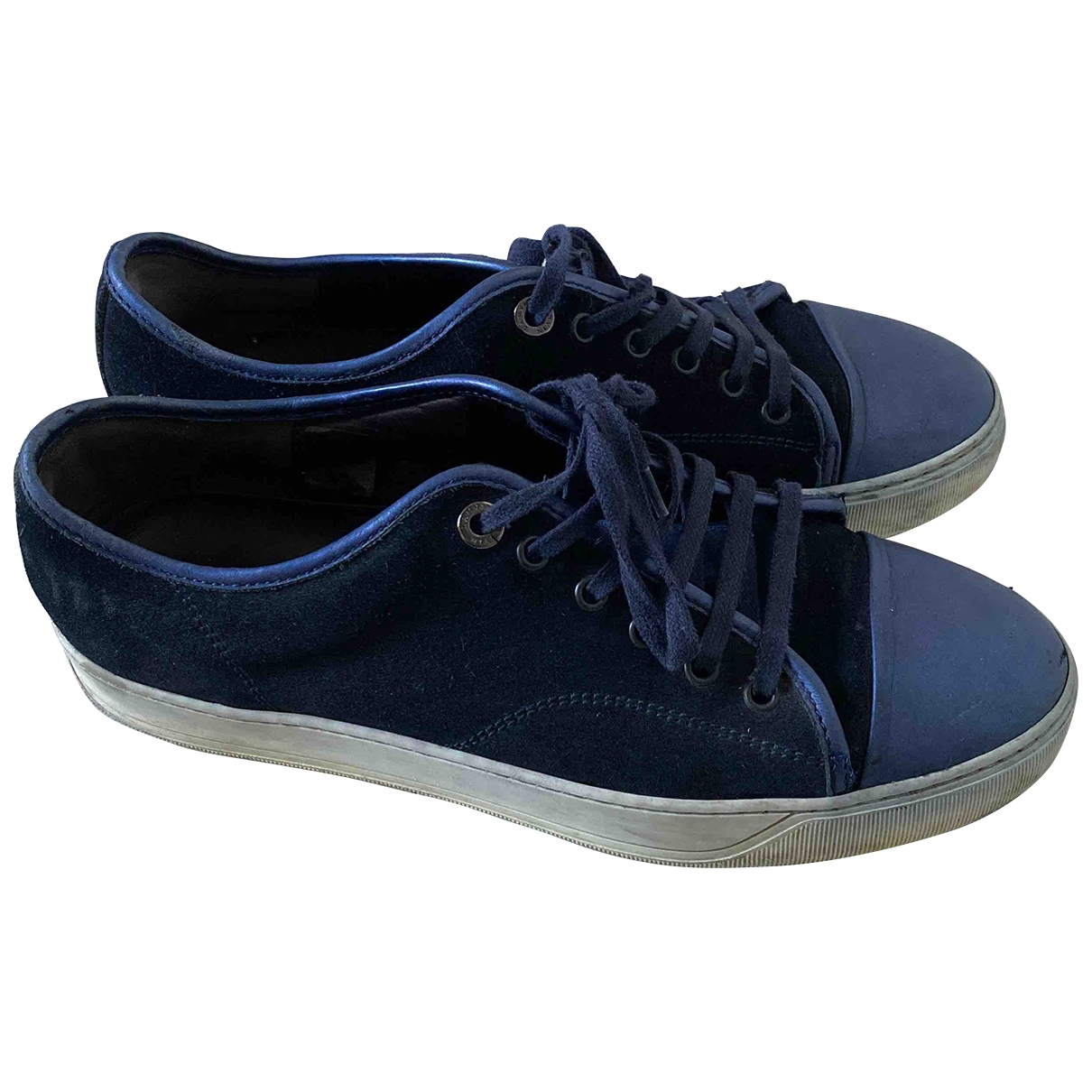 Lanvin \N Navy Suede Trainers for Men 7 UK