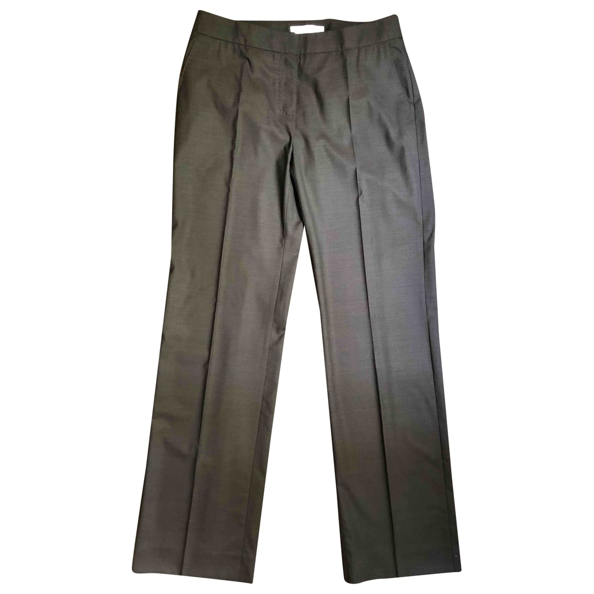 Max Mara \N Brown Wool Trousers for Women 46 IT