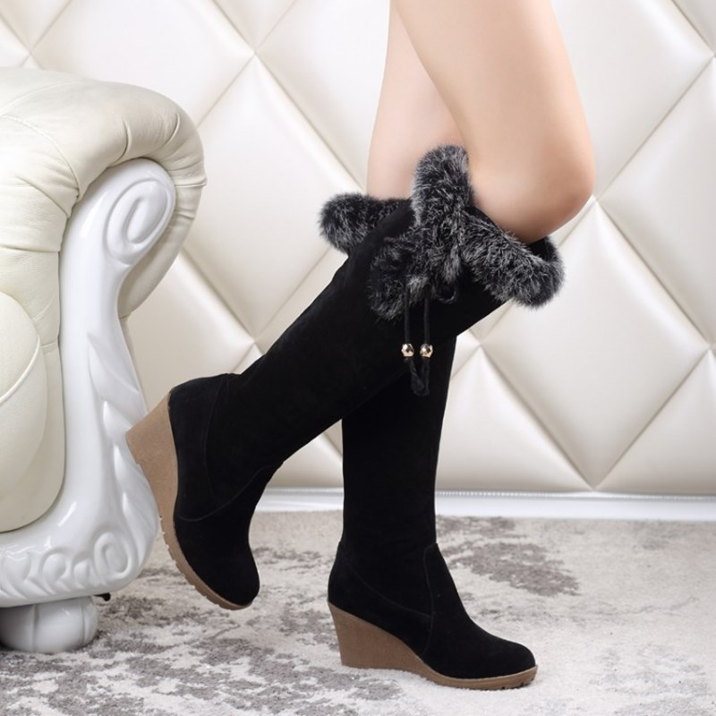 Ericdress Elegant Knee High Boots with Tassels