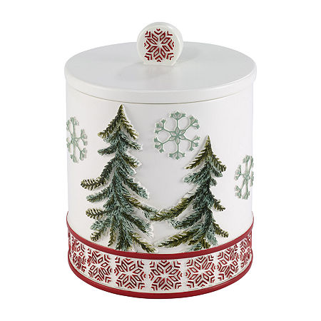 Avanti Christmas Gnome Bathroom Canister, One Size , Multiple Colors