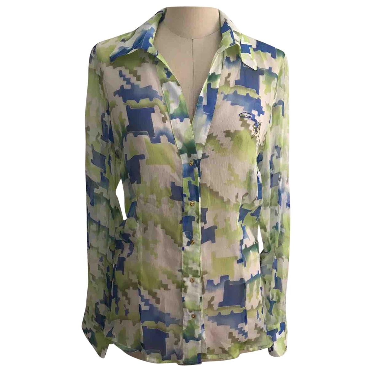 Guess \N Green Silk  top for Women 46 IT