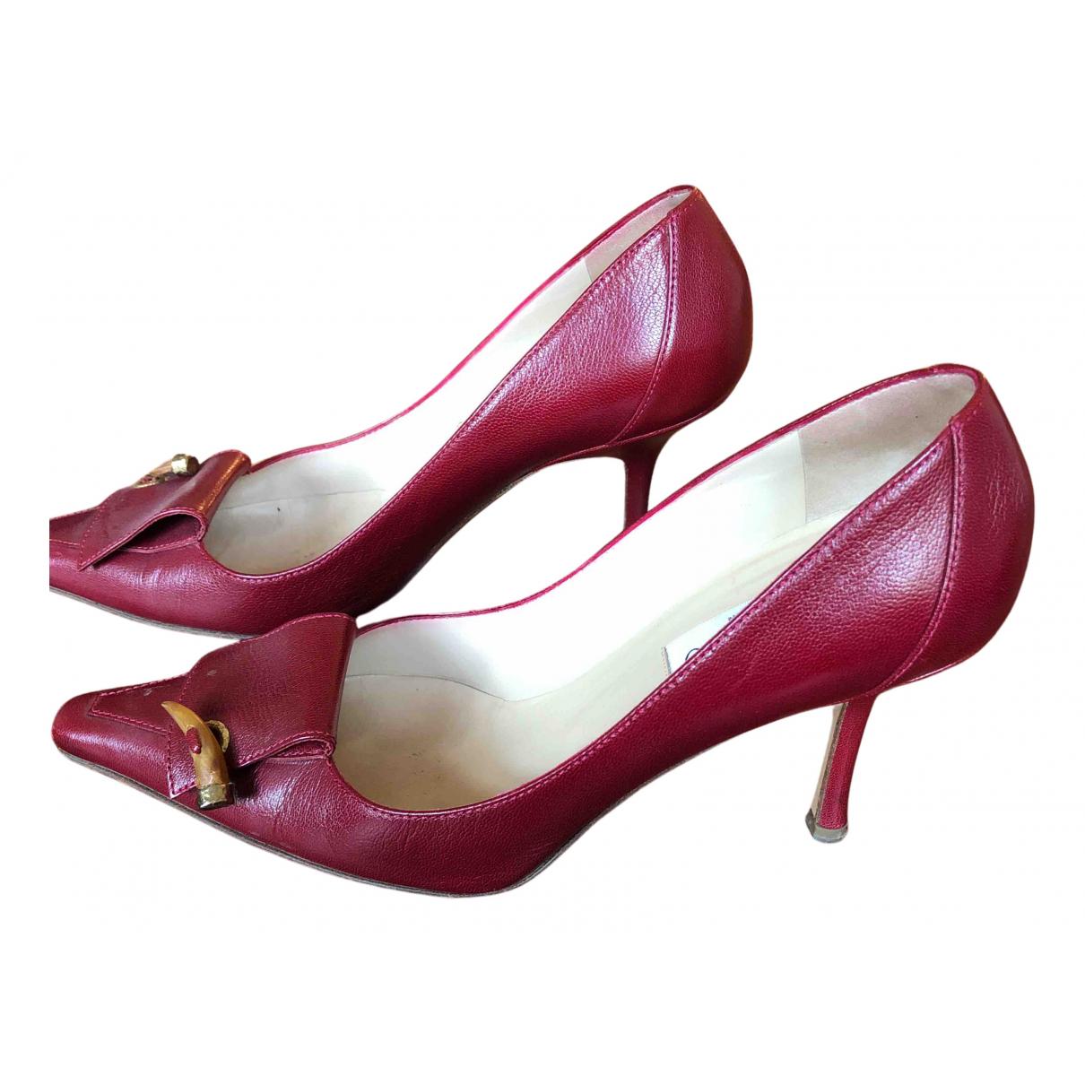 Jimmy Choo - Escarpins   pour femme en cuir - rouge