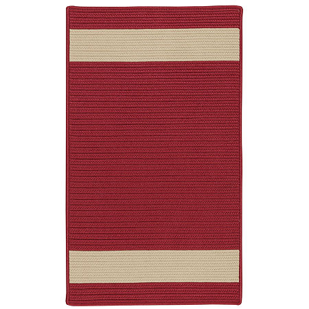 Colonial Mills Tanglewood Stripe Braided Rectangular Reversible Indoor/Outdoor Rugs, One Size , Red
