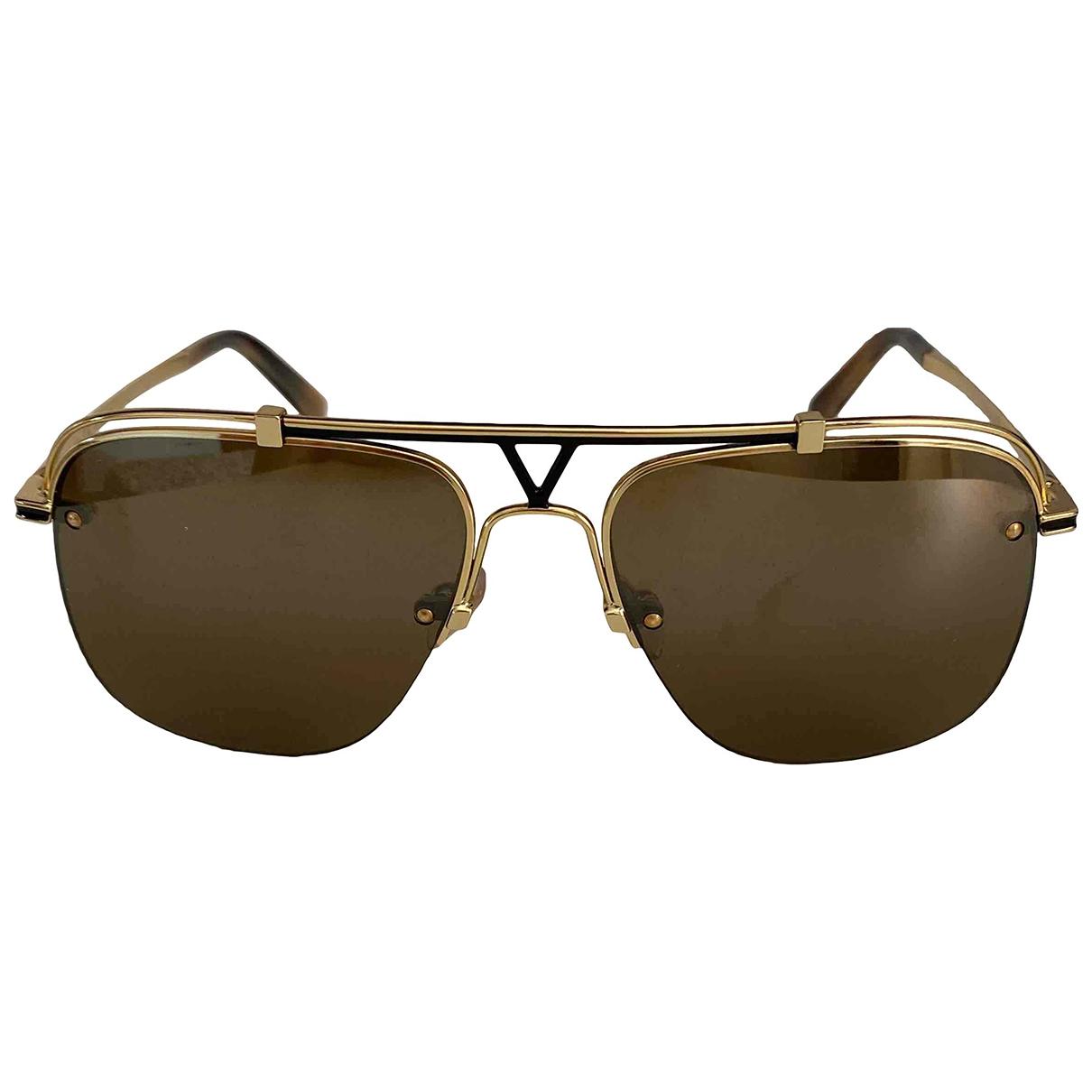 Louis Vuitton \N Gold Metal Sunglasses for Men \N