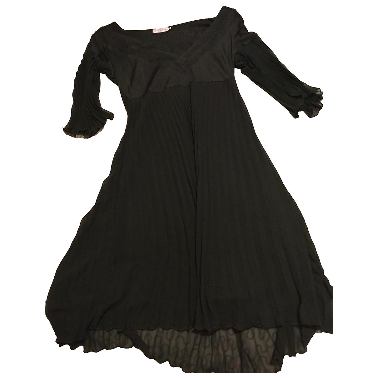 Max & Co - Robe   pour femme en soie - noir