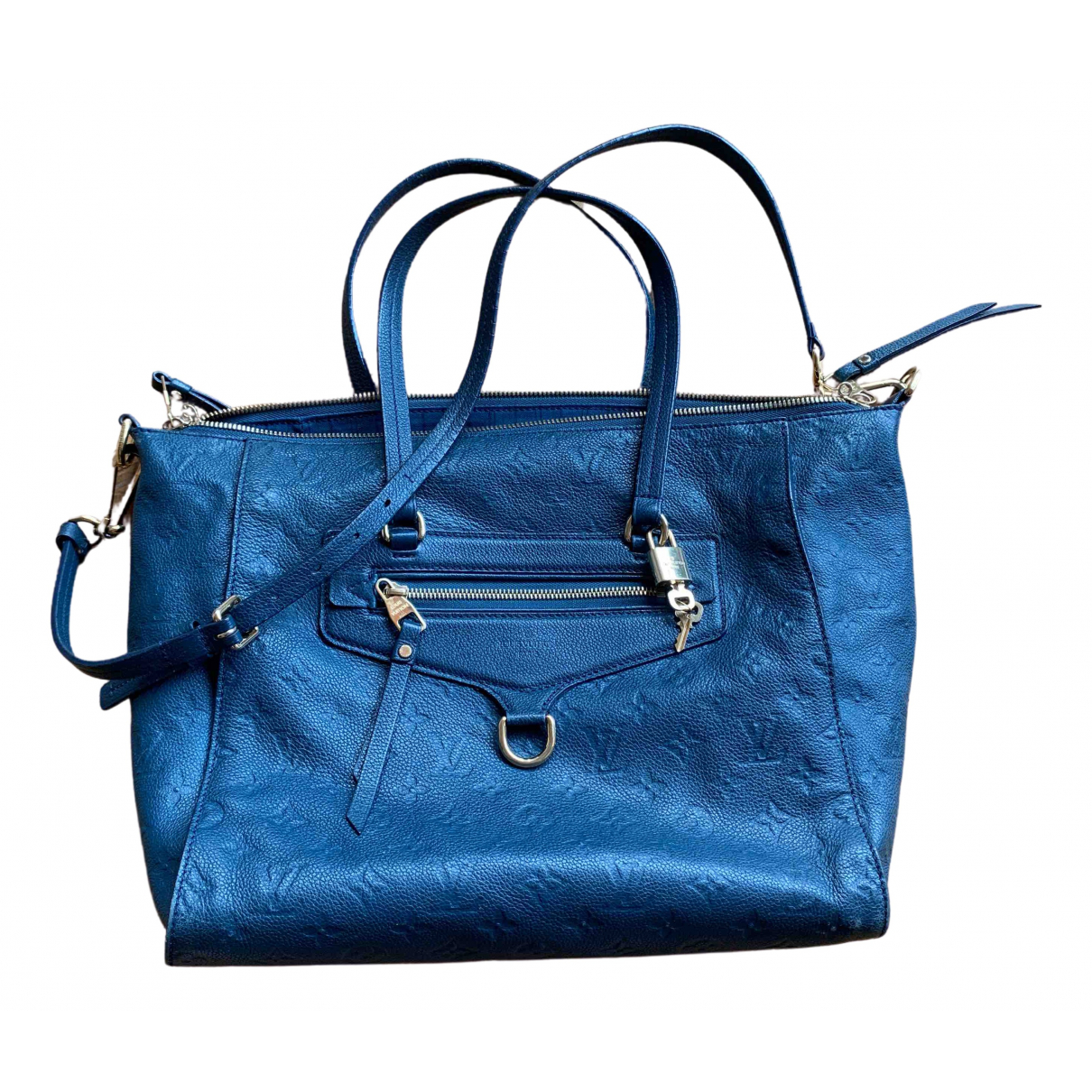 Louis Vuitton Lumineuse Blue Leather handbag for Women \N