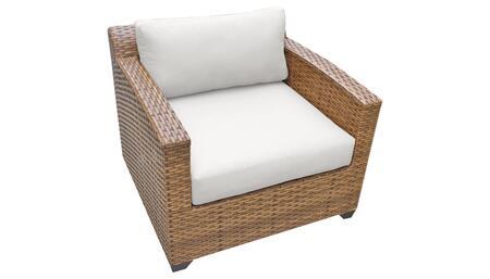 TKC025b-CC-WHITE Club Chair - Wheat and Sail White